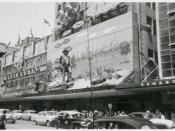Coles' Olympic Games decorations, December, 1956. Bourke Street, Melbourne.
