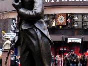Statue of Charlie Chaplin in Leicester Square, London