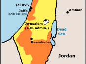 The 1947 UN Partition Plan offered to both sides of the conflict before the 1948 war. The Jews accepted the plan while the Arabs rejected it.
