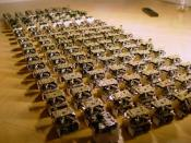 A swarm of robots in the Open-source micro-robotic project