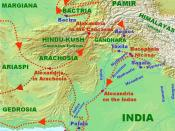 Campaigns and landmarks of Alexander's invasion of the Indus River Basin of modern day Pakistan.