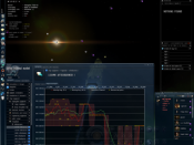 A user browsing the market for items in EVE Online