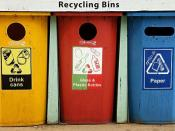 Colorful Recycling Containers for Trash