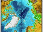 Bathymetric/topographic map of the Arctic Ocean and the surrounding islands