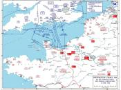 Allied invasion plans and german positions in the Normandy.