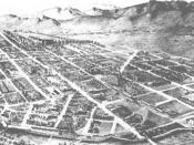 English: Nineteenth-century bird's-eye view of Fort Collins. Category:Images of Colorado