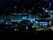CHU de Rouen de nuit