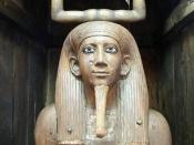 English: Ka statue of Horawibra - (Pharaoh Hor) Egyptian Museum, Cairo. Main floor - gallery 11. Wood: height 170 cm, width 27 cm. JE 30948 - CG 259.