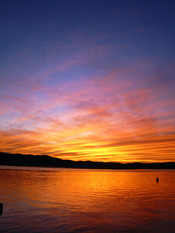 English: colourful sunset. knysna, south africa. slightly photoshopped to enhance the colours.
