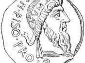 Numa Pompilius, romersk kung. Källa: Anton Nyström, Allmän kulturhistoria eller det mänskliga lifvet i dess utveckling, bd 2 (1901)