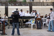 English: Jerusalem, Bar Mitzvah at the Western Wall Deutsch: Jerusalem, Bar Mitzvah Feier an der Westmauer