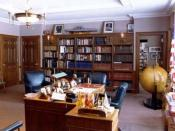 English: Truman's working office at the Harry S. Truman Presidential Library and Museum.