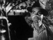 Trailer for the 1940 black and white film The Grapes of Wrath. John Qualen as Muley Graves, neighbor in Oklahoma.
