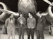 Paul Mantz, Amelia Earhart, Harry Manning and Fred Noonan, Oakland, California, 17 March 1937 (original source: http://www.aerovintage.com/mantz8.jpg)