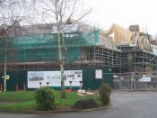 English: New Care Home on the Wergs Road A major new residential and care home for Sunrise Senior Living is taking shape, adjacent to the Wrottesley Park Nursing Home.