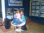Raley and Blaize selling Girl Scout Cookies