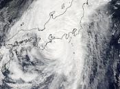 Typhoon Roke Approaching Japan