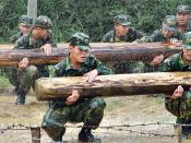 People's Liberation Army recruits training.