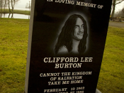 Cliff Burton's memorial in Ljungby, Sweden