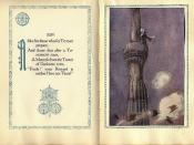 Spread from an early 20th century printing of The Rubaiyat of Omar Khayyam. Illustrations by Willy Pogany