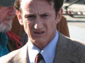 English: Sean Penn filming Milk in 2008