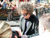 Tim Burton at premiere of Charlie and the Chocolate Factory.