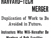 Harvard-tech merger