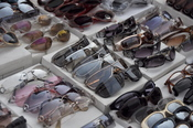 English: A range of sunglasses with different lense colors, for sale in Manhattan, NY