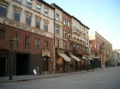 Set of Gangs of New York built at Cinecittà Studios in Rome, Italy
