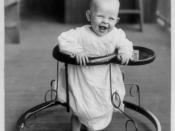 Baby in walker.