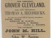 Democratic Ticket: Cleveland & Hendricks