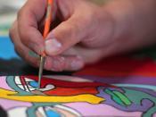 Nik paints Bob Dylan