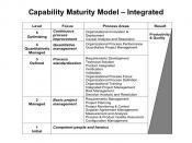 English: Capability Maturity Model