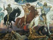 Four Horsemen of Apocalypse, by Viktor Vasnetsov. Painted in 1887.