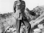 English: Captain Wright at Gallipoli.