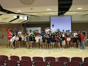 English: student leaders at camp