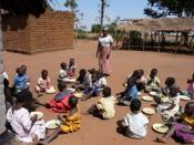 English: Community Based Childcare Centers care for AIDS orphans in Malawi, this one is supported by Feed The Children