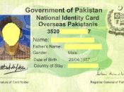 Pakistani Identity Card