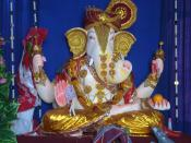 English: Statue of Lord ganesha in a hindu temple