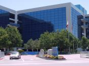 The headquarters of Intel Corporation in Santa Clara, California. Note the small