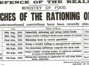 A British government leaflet describing various penalties given out to people breaching the wartime rationing legislation.