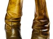 English: Cowboy style boots