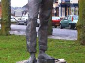 English: A statue of Rupert Brooke in his birth town of Rugby. Photo by G-Man Jan 2005.