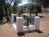 Grave of Rupert Brooke on the Greek island of Skyros