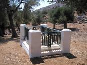 Grave of Rupert Brooke on the Greek island of Skyros