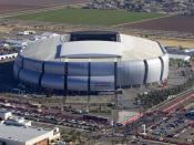 University of Phoenix stadium, site of this year's Super Bowl, won by the New York Giants.