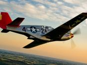 English: The P-51 Mustang flown by the Red Tail Project