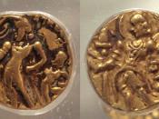 Gold coins of Chandragupta II.