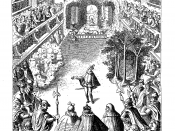 Engraving of the second scene of the Ballet Comique de la Reine, staged in Paris in 1581 for the French court.