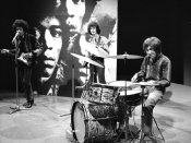 The Jimi Hendrix Experience performs for Dutch television show Fenklup in 1967